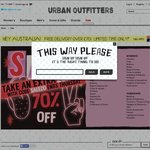 Urban Outfitters Sale 40% off  (SALE ITEMS ONLY) - Free Shipping to AUS over £70