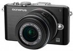 OLYMPUS PL3 Single Lens Kit Compact System Camera Black for $222 @DSE with 12% off
