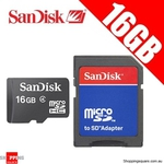 SanDisk 16GB MicroSDHC Card (Class 4) with Adaptor, Shopping Square - $6.95+ $1.95 Postage