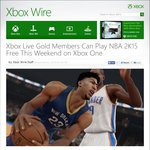 NBA 2K15 Free Play for This Weekend on Xbox One (Gold Members Required)
