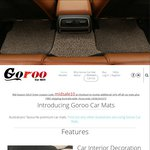 10% off on Set of 5 PVC Car Mats, Free Shipping, from Goroo Car Mats (RRP $109- $129)
