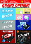 MSY Tasmania Opening Sale - $23 64GB MicroSD, 15% off TP-Link, OCZ, Patriot, Thermaltake & More