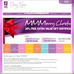 [ACT] Club MMM! Day Spa Gift Certificates - Get 30% Extra Value Free