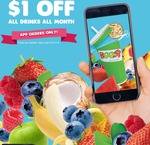 Boost Juice - $1 off All Orders throughout January Via App