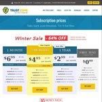 Trust.Zone - US $35.88 (~AU $51) for 1yr VPN - Winter Sale (64% off)