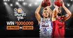 Win up to $1,000,000 from NBL