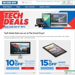 Tech Deals @TheGoodGuys (10% off Mac, 15% off Lenovo, 15% off HP, 15% of Navman, $30 off GoPro Accessory, $50 off Samsung Tablet