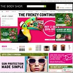 20% off Orders with 2+ Items, Online or In-Store @ The Body Shop