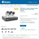 Swann (Refurbished) DVR8-4550 - 8 Channel (2TB) 1080p HD Digital Video Recorder & 4x PRO-T853 Cameras $450 (Save $449) @ Swann