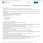 10% off eBay Aussie Sellers in Selected Categories (Min Spend $30)