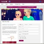 Qatar Airways - Kids Travel Free with Adults