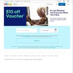$10 off eBay with No Minimum Spend (New or Inactive Accounts (12 Months) Only)