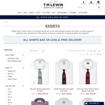 TM Lewin All Shirts $40 Plus Free Delivery