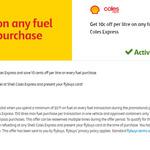 10c (p/litre) off Fuel @ Coles Express (valid until 6 September)