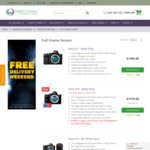 10% off Sony Full Frame Cameras and Some Lenses at Various Retailers