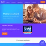 OVO 100GB Mobile Data $100pm  Optus network