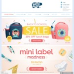 HippoBlue - 20% off Personalised Kids Lunchbags ($28) and Free Shipping with Code