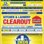 2nds World Flash Sale - 15% off Cooking, 10% off TVs, Washers, Dryers, Fridges & More. in Stock Items Only. in Store & Online