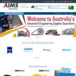 10% off Storewide and Free Shipping to Selected Areas over $150 @ AIMS Industrial