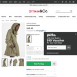 Women's Washed Anorak - $10.50 C&C or $19.50 Delivered @ Cotton On