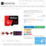 Netac P500 PRO 64GB UHS-I U3 98MB/S microSDXC Memory Card US $13.99 (~ AU $18.10) Free Shipping @ Zapalstyle