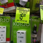 Korjo Surge Protected 2 Port USB (2.1a Total Output) and PowerAdaptor ANZ Plug $5 (Save $17.99) @ Chemist Warehouse