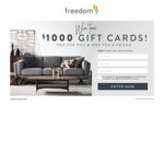 Win Two $1,000 Gift Cards from Freedom
