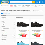 ASICS GEL-Kayano 25 $169 + Delivery @ Catch