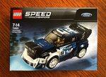 Win a LEGO Ford Fiesta M-Sport WRC Speed Champions Kit Worth $22 from Goodman Motorsport Art