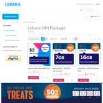 Lebara Mobile Halloween Sale: 360 Day Starter Pack - Medium Plan 7GB $179, Large Plan 16GB $209 (New Customer Only)
