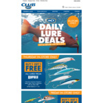 [BCF] (Club Members) Buy 1 Get 1 Free - Daily Lure Deals. In-Store Only.