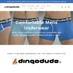 10% off Mens Bamboo Fibre Boxers and Briefs + Free Delivery @ Dingo Dude