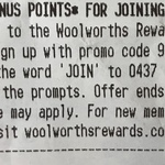 1500 Bonus Points for Signing up to Woolworths Rewards
