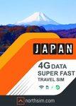 Japan 4G Travel SIM Cards $10 off ($19.95 Delivered for 7 Day Japan Travel SIM Card) @ NorthSIM