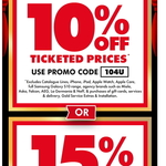 10% off Ticketed Items, 15% off TVs @ The Good Guys (Online & In-Store)