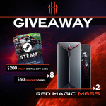 Win a Red Magic Mars Gaming Phone, $200 Steam Digital Gift Card or $50 Discount Codes from Red Magic Gaming