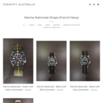 Strapify Watch Straps - 40% off $30 Spend. Marine Nationale Straps $32.97 (from $54.95)