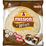 ½ Price: Mission Wraps Varieties, Tip Top English Muffin Varieties, Golden Fluffy & Delicious Waffles $2.50 Each @ Woolworths