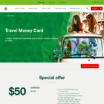 $50 Cashback for Opening a New St.George Global Currency Card Account & Converting $1500AUD to a Supported Foreign Currency