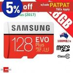 Samsung EVO Plus 128GB Micro SD $24.76, SanDisk Ultra 128GB $19.95 + Del ($0 with eBay Plus) @ Shopping Square eBay