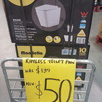 [NSW] Mondella Rococo Square Rimless Back to Wall Toilet Pan Clearance $50 (Was $139) @ Bunnings, Mcgraths Hill & Rouse Hill