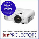 Epson EH-TW5600 FULL HD 1080p 3D Home Projector $836.10 Delivered @ Just Projectors Australia