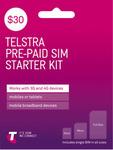 $30 Telstra Prepaid SIM Starter Kit $12 + Delivery ($0 C&C) @ The Good Guys eBay