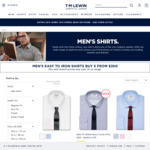 Buy 3 Shirts or Non-Sale Ties for $99 ($33 Each) + Free Delivery at TM Lewin