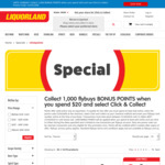 1000 Flybuys Points with $20 Click & Collect Spend @ Liquorland Online