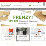 15% off Sitewide @ Flora & Fauna