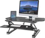 Flexi-Desk LD07E Electric Sit Stand Desk $394.90 + Bonus F80 Gas Strut Monitor Mount (RRP $49.95) Free Metro Del @ ScreenMounts