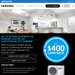 Up to $400 Cashback on Ducted Air Conditioners from Samsung
