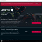 MotoGP Black Friday Deal: 2020 Pre-Season Content & Archive Streaming for €1.00 (AU $1.49)
