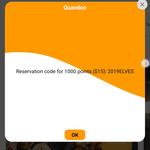 1000 Points ($15 Cashback) for Restaurants Booked via Mobile App @ Quandoo